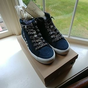 NEW VINTAGE HAVANA HIGH TOP DENIM SNEAKERS